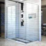 Linea 34 X 72 Semi Frameless Shower Door With Clearmax Technology