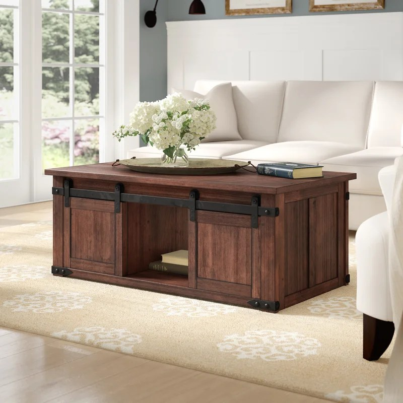 rosa solid wood coffee table with storage