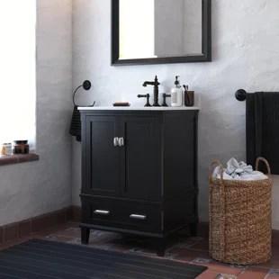 black bathroom vanities joss main