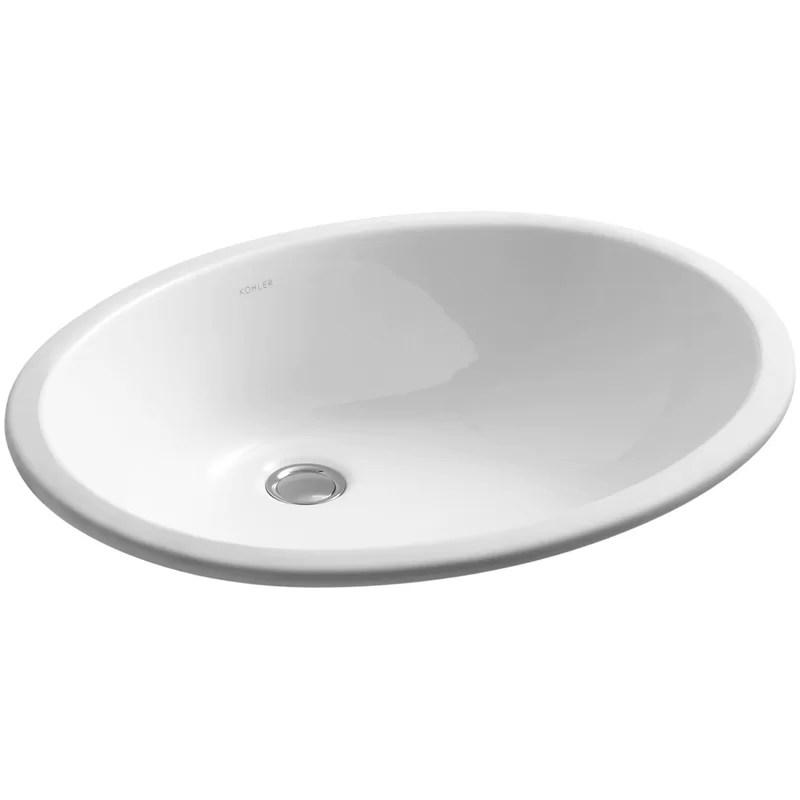 caxton ceramic oval undermount bathroom sink