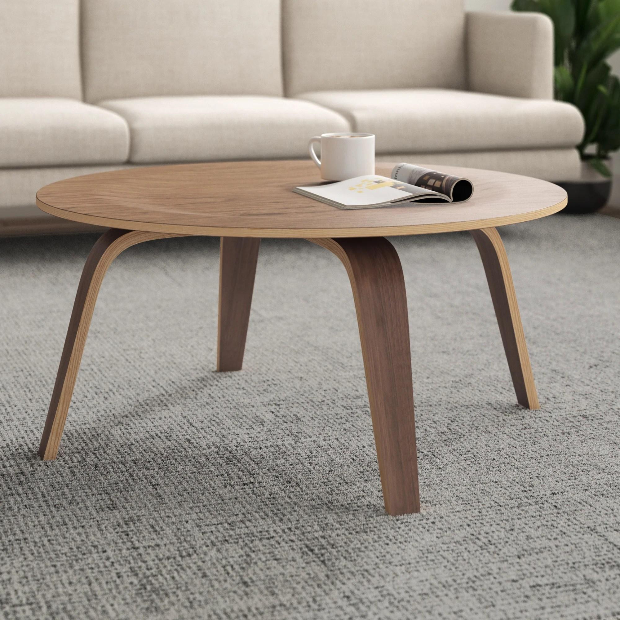 modern brown coffee tables allmodern