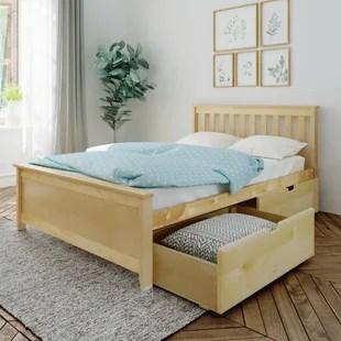bolinger full platform bed with 2 drawers