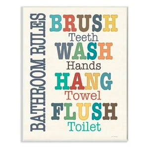 funny bathroom wall art | wayfair