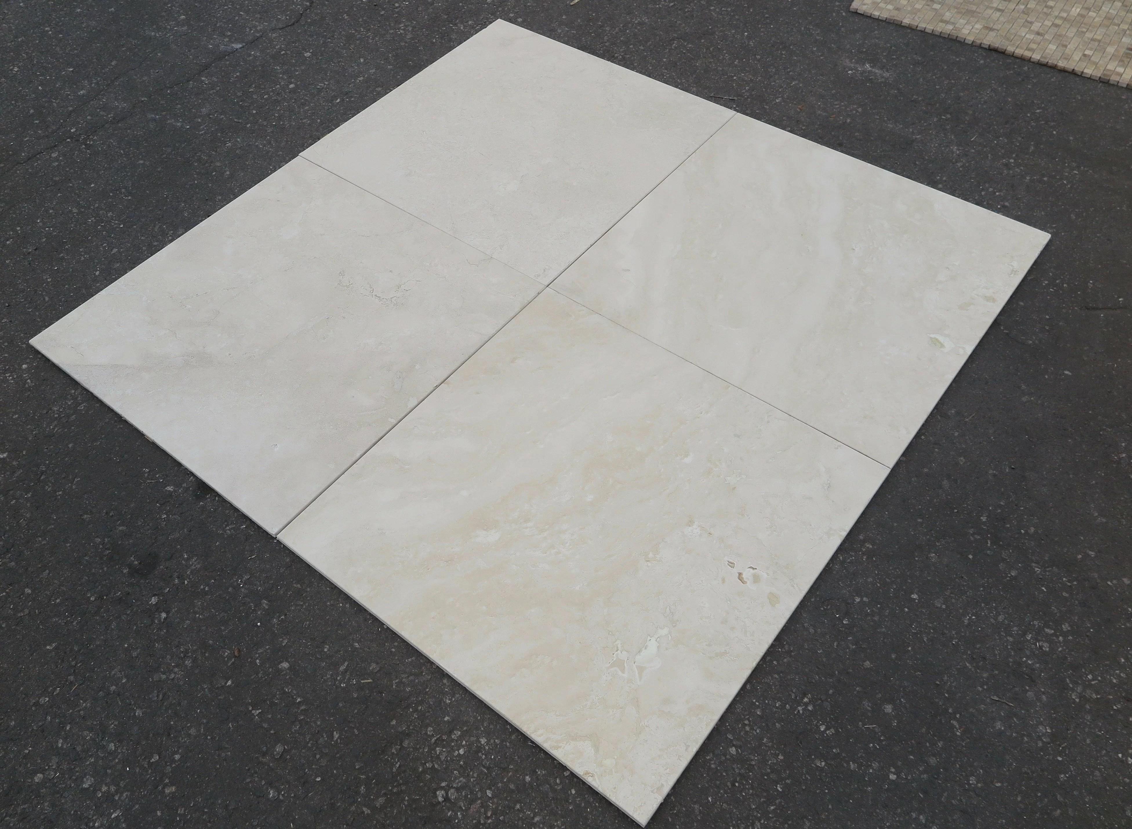 durango honed 24x24 travertine field tile