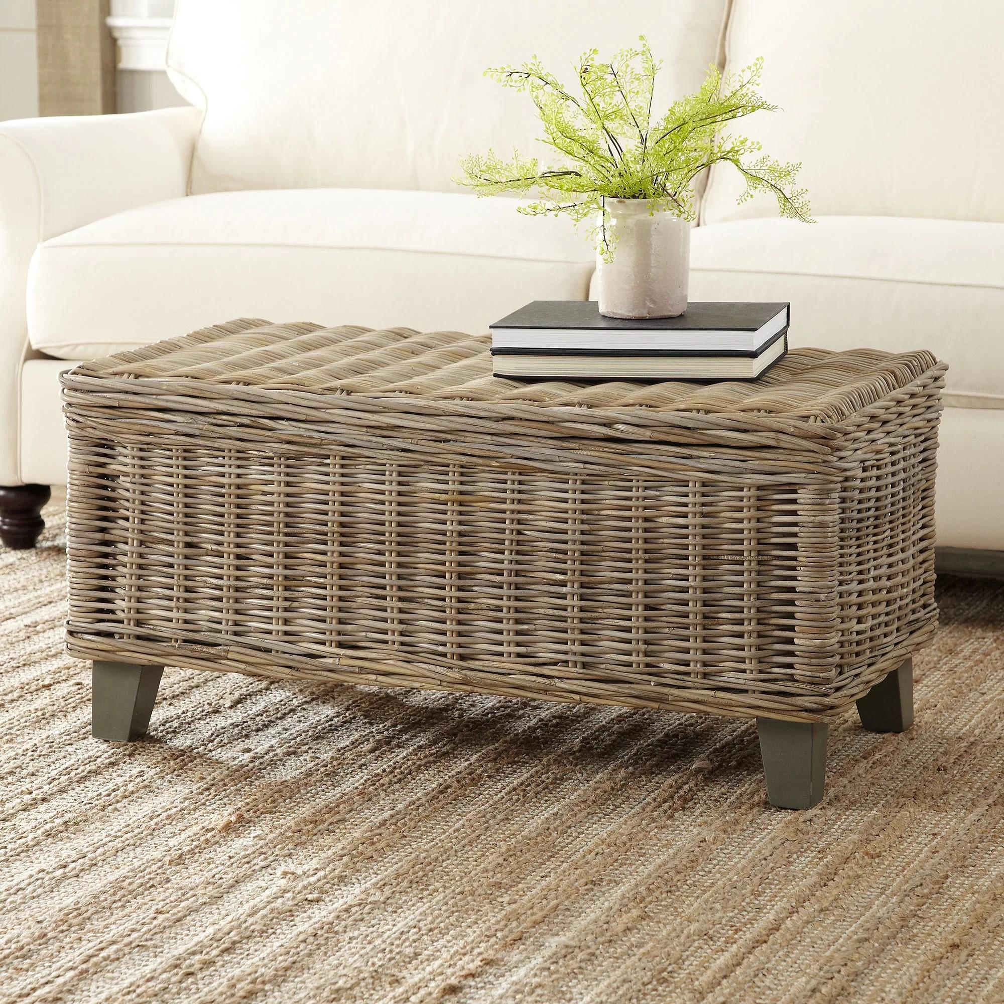 wicker trunk coffee table