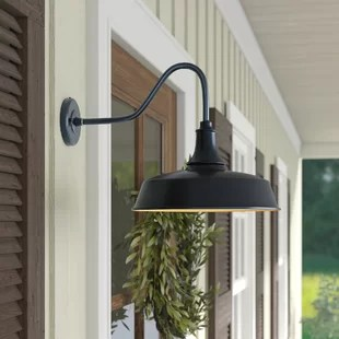 gunnora 1 bulb outdoor barn light with dusk to dawn