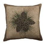 Millwood Pines Harjo Pine Cone Throw Pillow Wayfair
