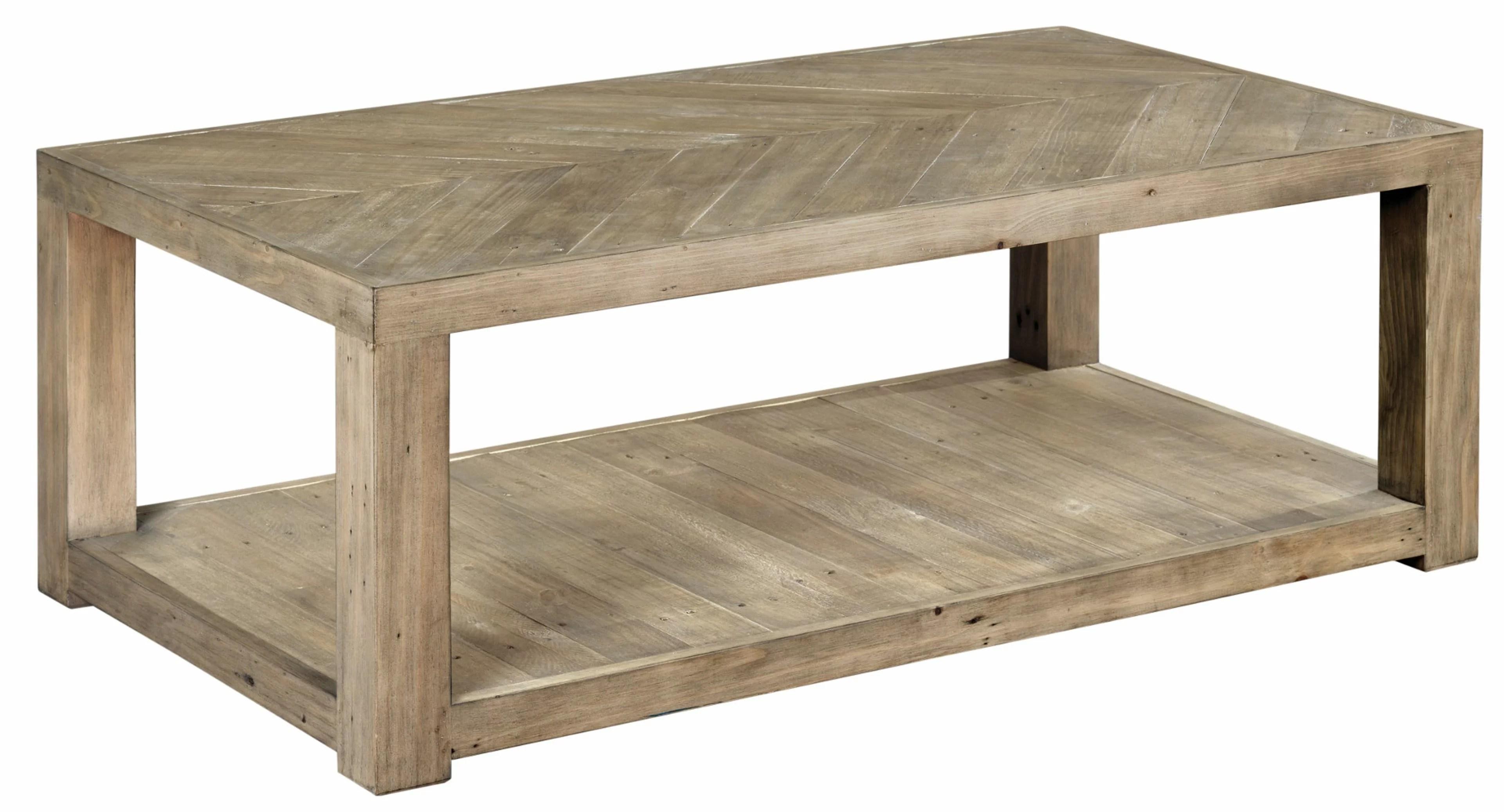 wesley solid wood floor shelf coffee table