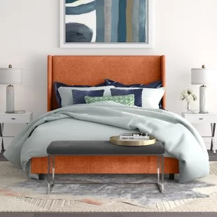 milan upholstered panel bed