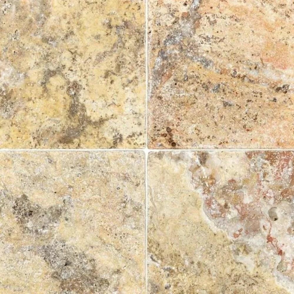 6 x 6 travertine marble look wall floor tile