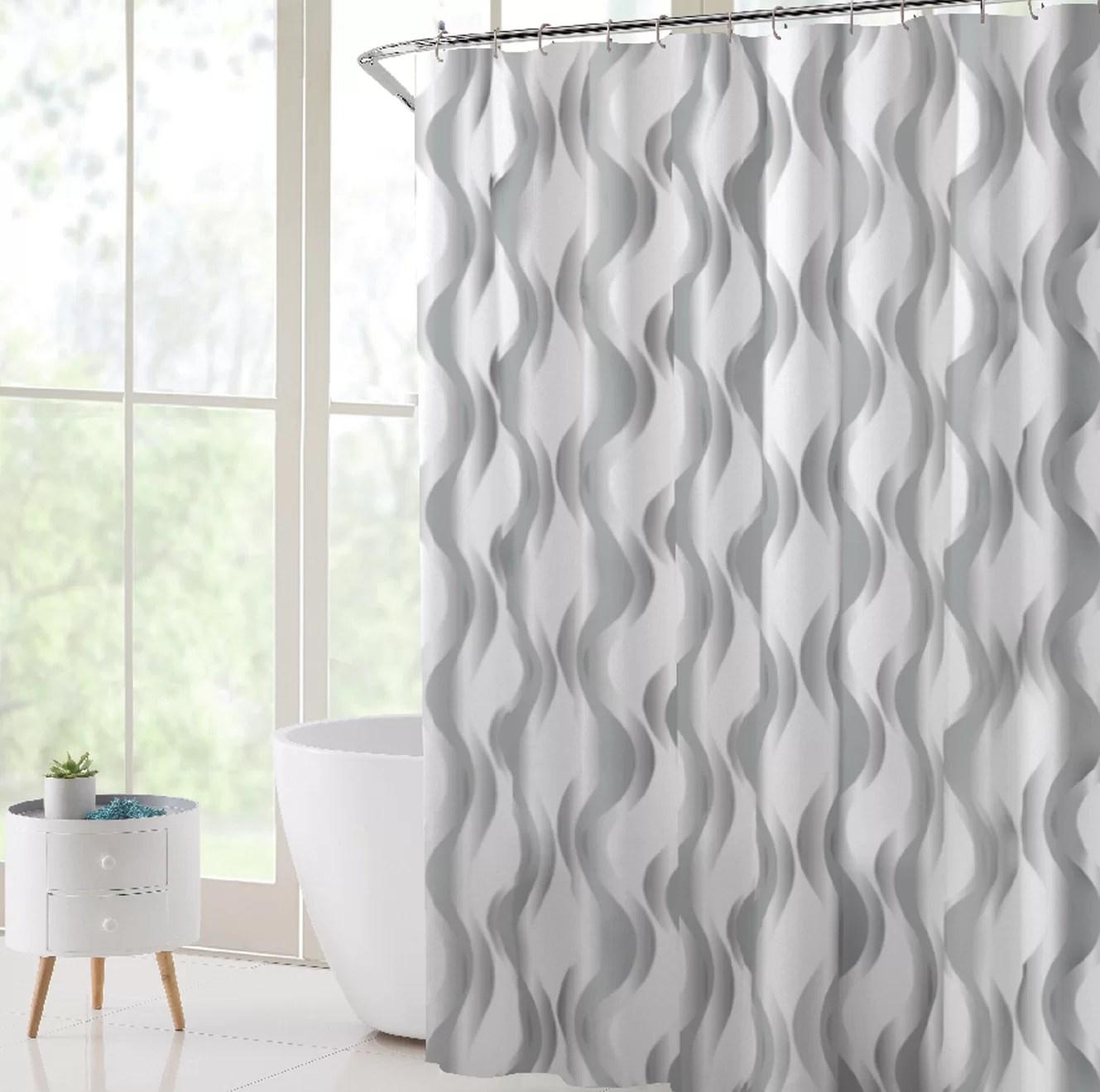 gungnir vinyl abstract shower curtain liner