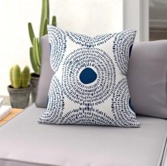 Keeley Circles Outdoor Throw Pillow
