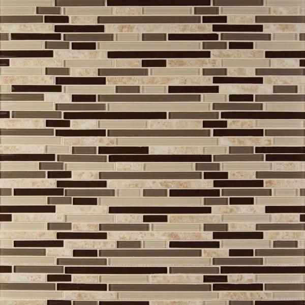 amalfi cafe interlocking pattern random sized glass stone mosaic tile