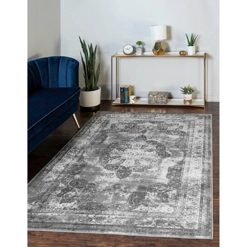 Mistana Brandt Oriental Gray Area Rug Reviews Wayfair