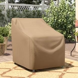 wayfair basics water resistant patio chair cover