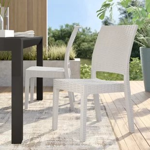 jayne stacking patio dining side chair set of 2