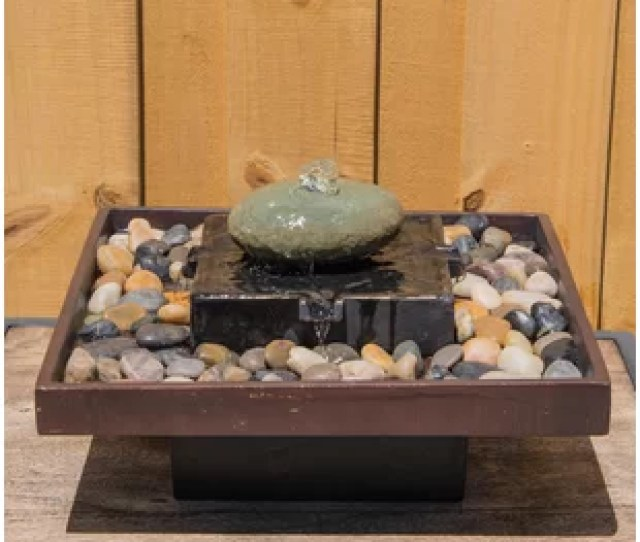 Concrete Tranquil Indoor Table Fountain