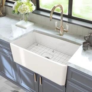 cape 30 l x 18 w farmhouse kitchen sink with basket strainer