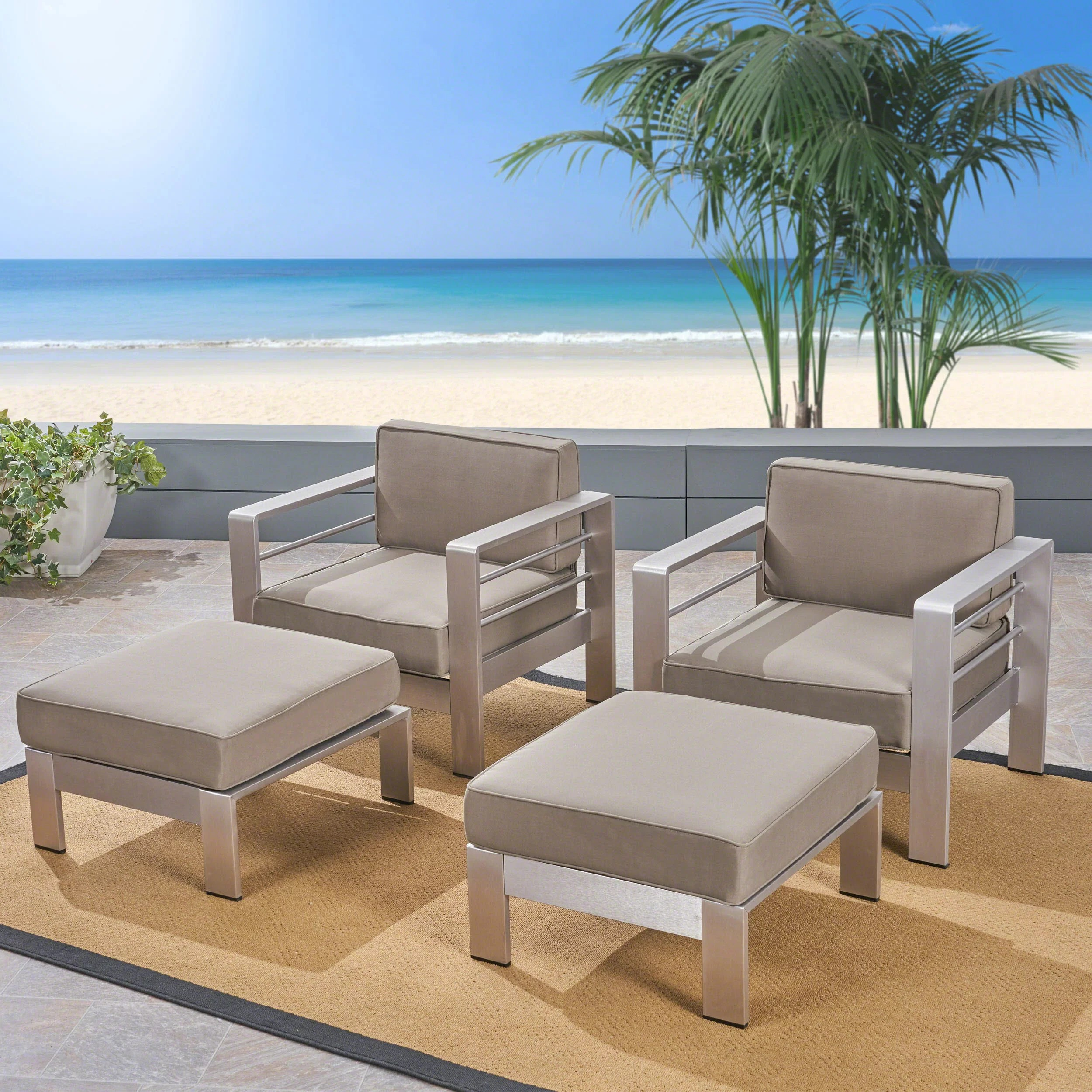 royalston patio chair with cushions