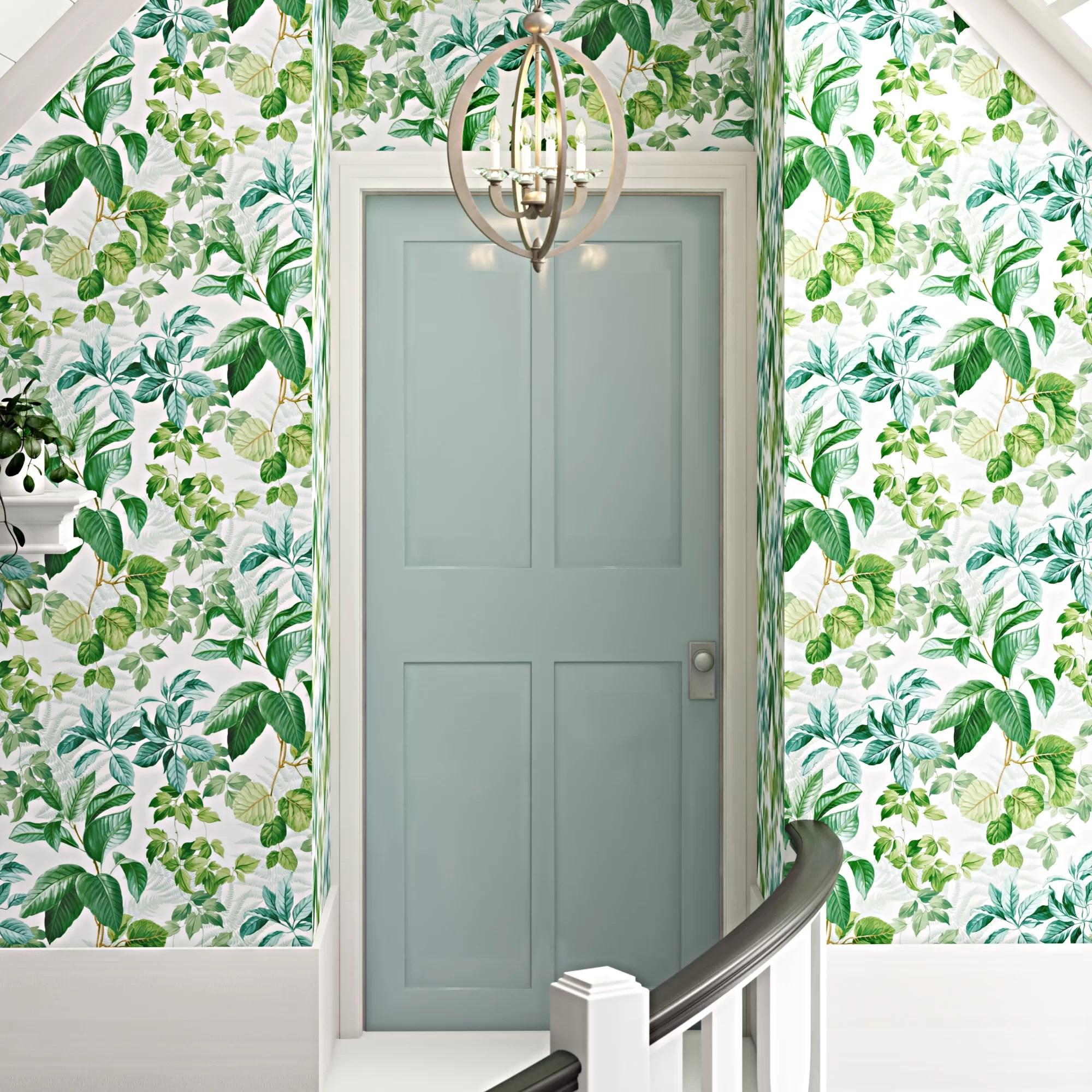Green Self Adhesive Wallpaper You Ll Love In 2020 Wayfair