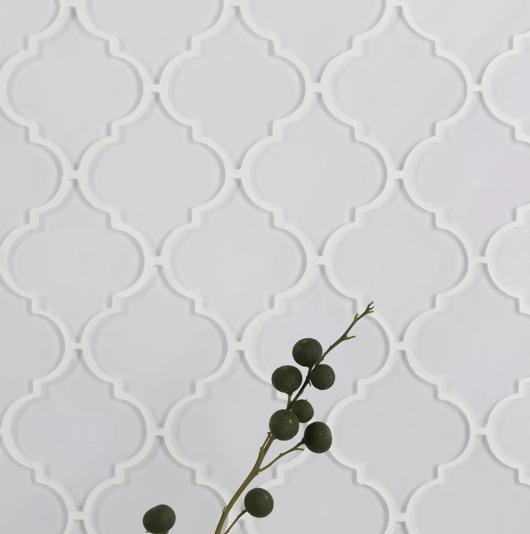 water jet series 3 x 4 glass arabesque mosaic tile