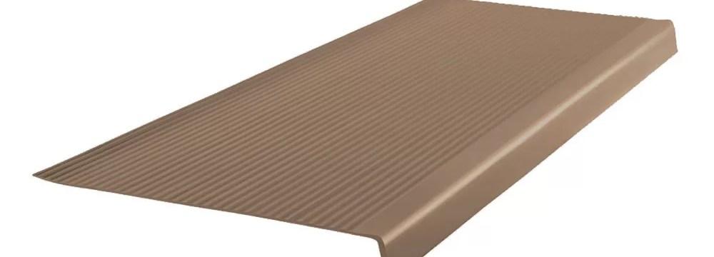 Roppe 42 Vinyl Rib Square Nose Stair Tread Wayfair | Wood Look Vinyl Stair Treads | Shaw Floors | Laminate Flooring | Roppe | Tile | Vinyl Flooring