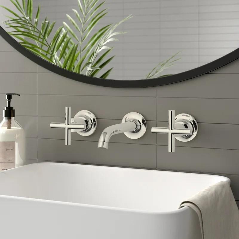 https www wayfair com home improvement pdp k t14413 3 bgd cp bn kohler purist widespread wall mounted bathroom faucet koh7693 html