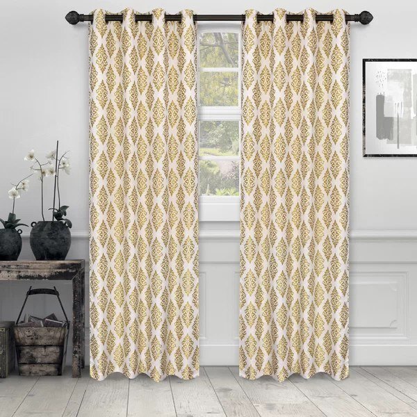 gold shimmer curtains