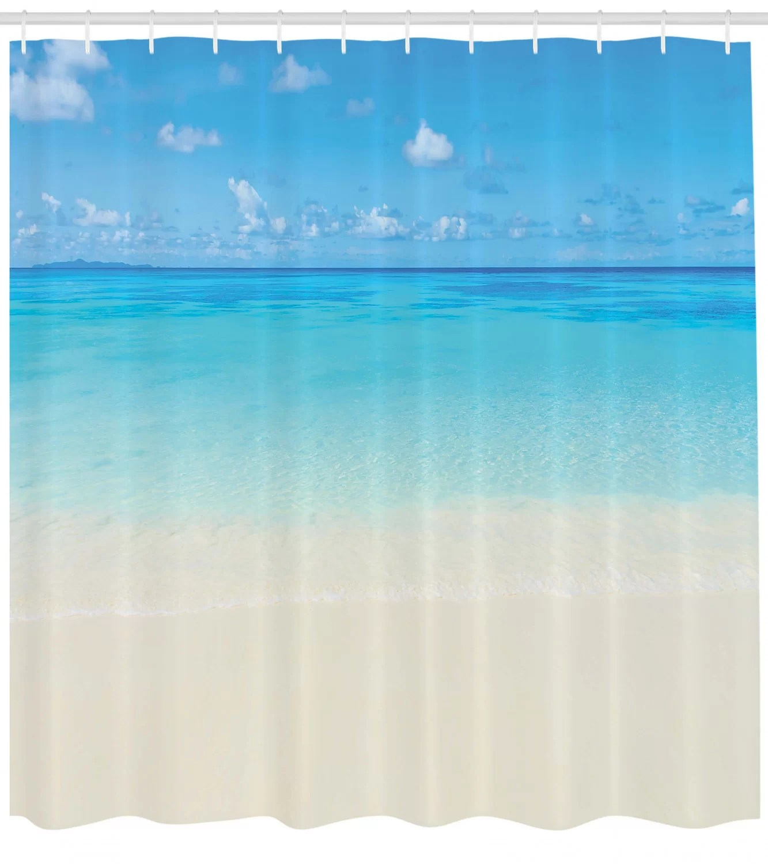 ocean shower curtain set hooks
