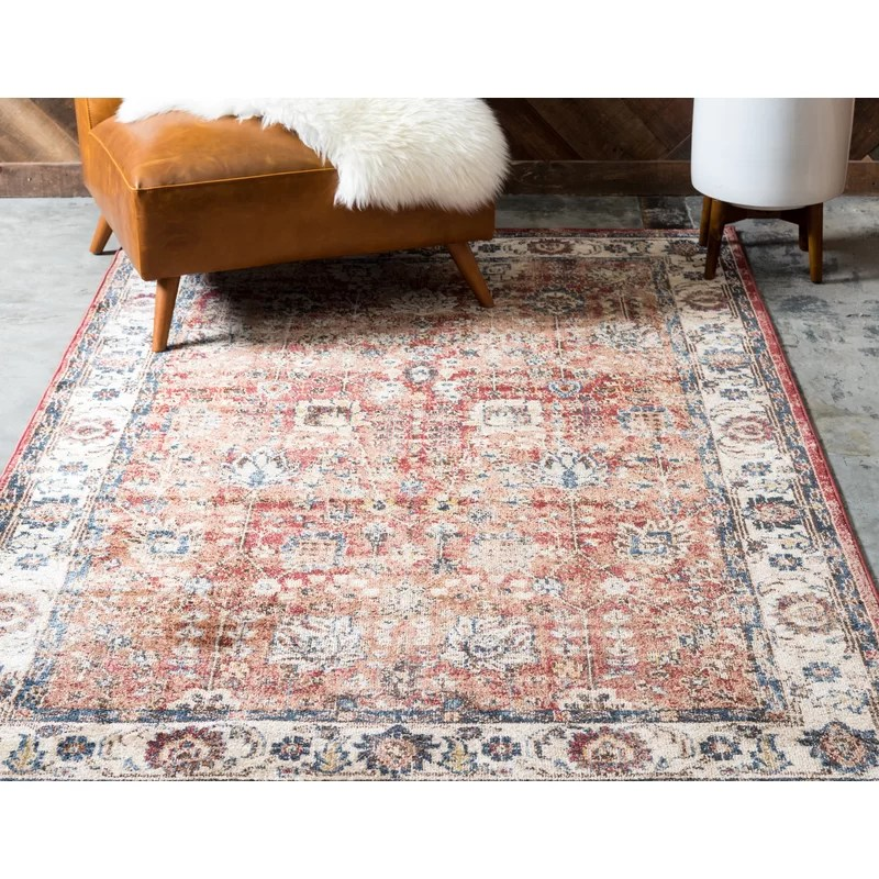World Menagerie Bally S Oriental Multicolor Area Rug Reviews Wayfair