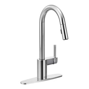 chrome moen kitchen faucets you ll love