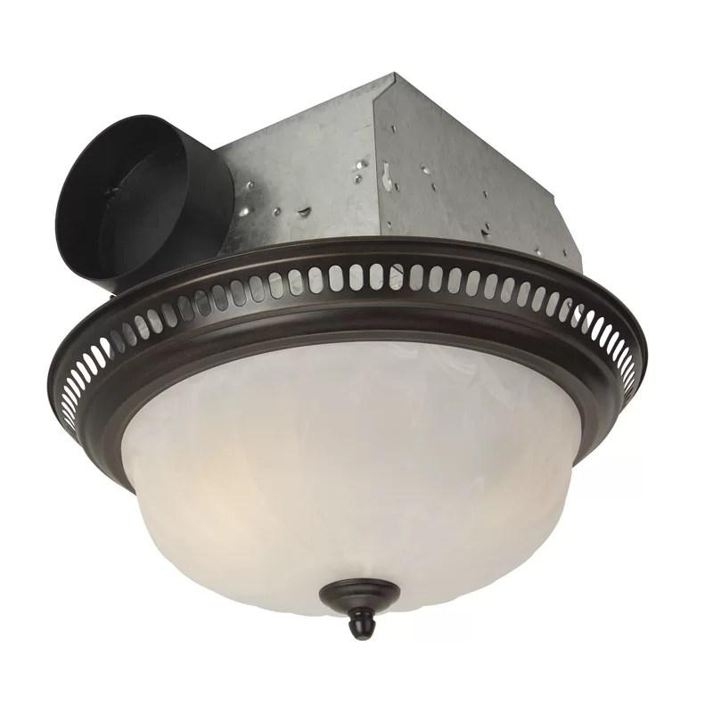 decorative designer bath fan with light in oil rubbed bronze