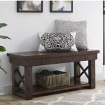 Laurel Foundry Modern Farmhouse Gladstone Wood Storage Bench Reviews Wayfair