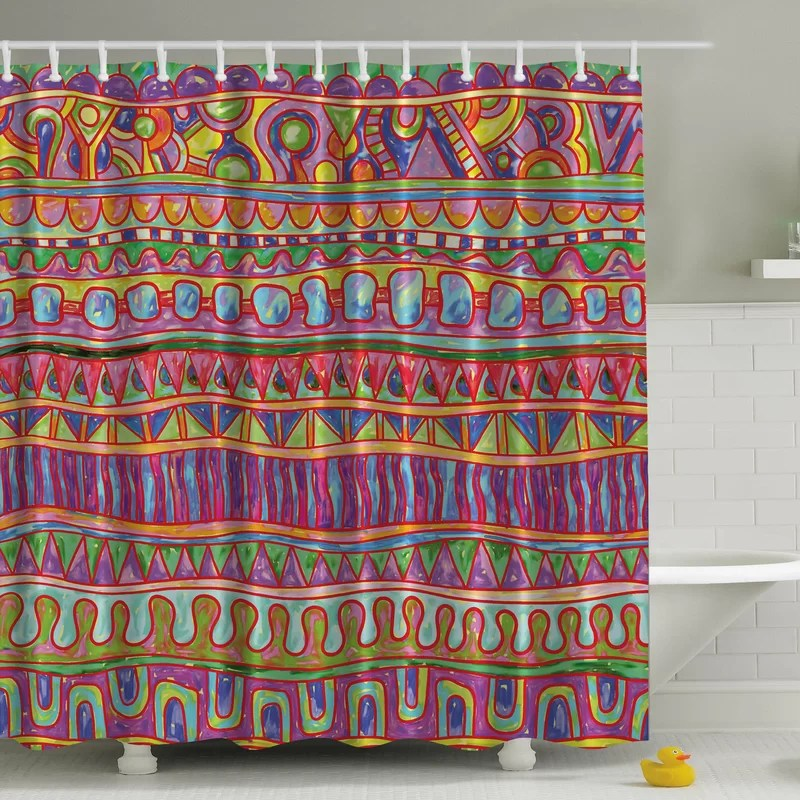 tribal print shower curtain