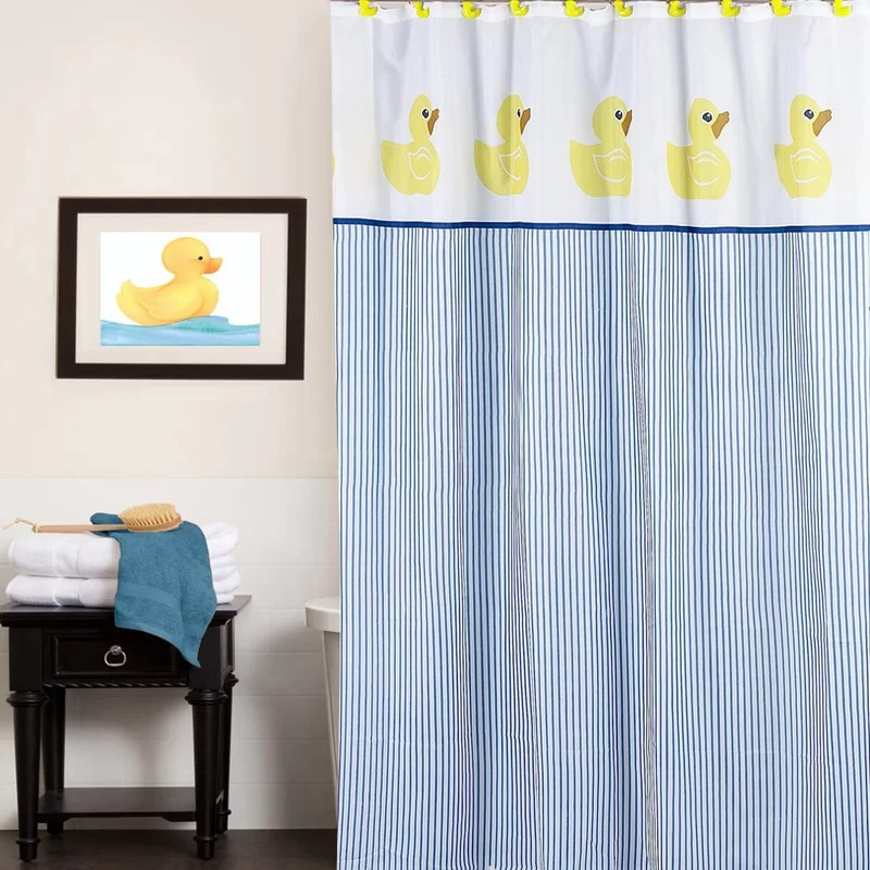 classic rubber ducky water resistant single shower curtain
