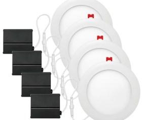 Globe Electric Company Slimline White Ultra 6 Slim Profile Recessed Lighting Kit Wayfair