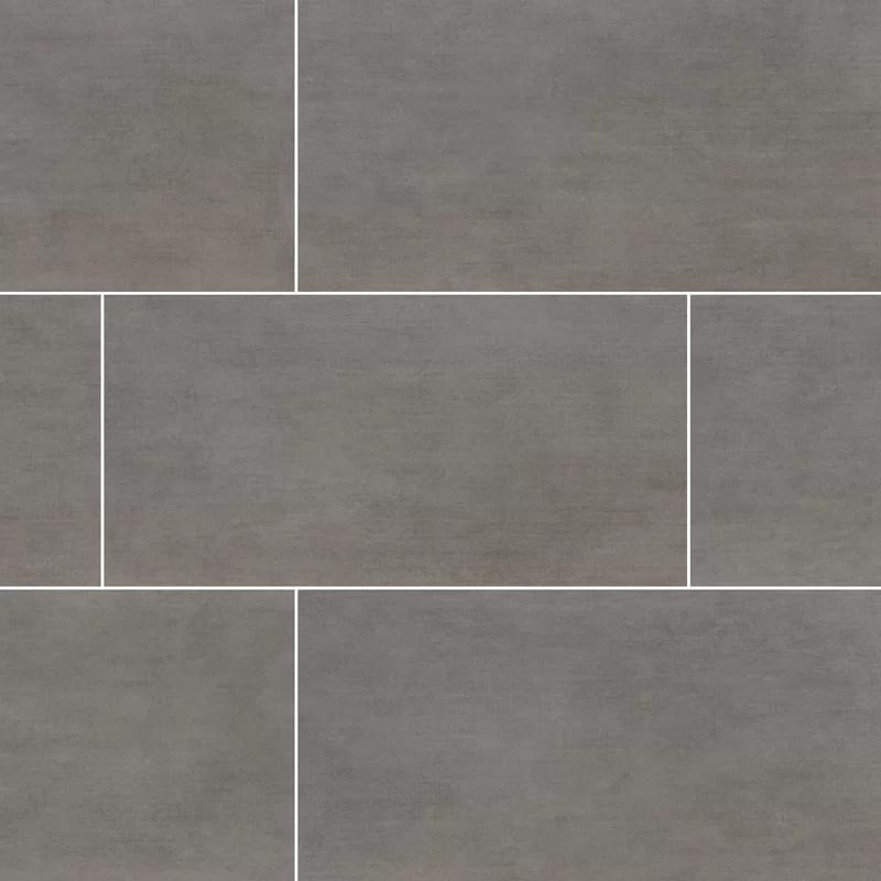 gridscale 12 x 24 ceramic concrete look wall floor tile