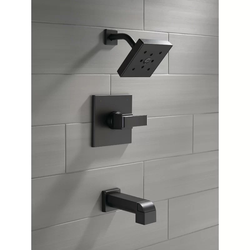 ara tub and shower faucet with trim and h2okinetic technology