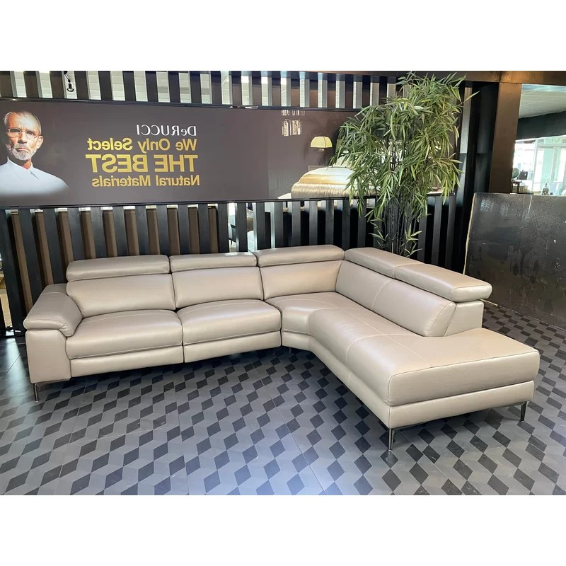 overbury leather 116 reclining sectional