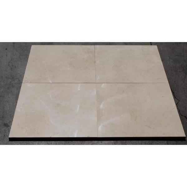 crema marfil standard polished 18x18 marble field tile