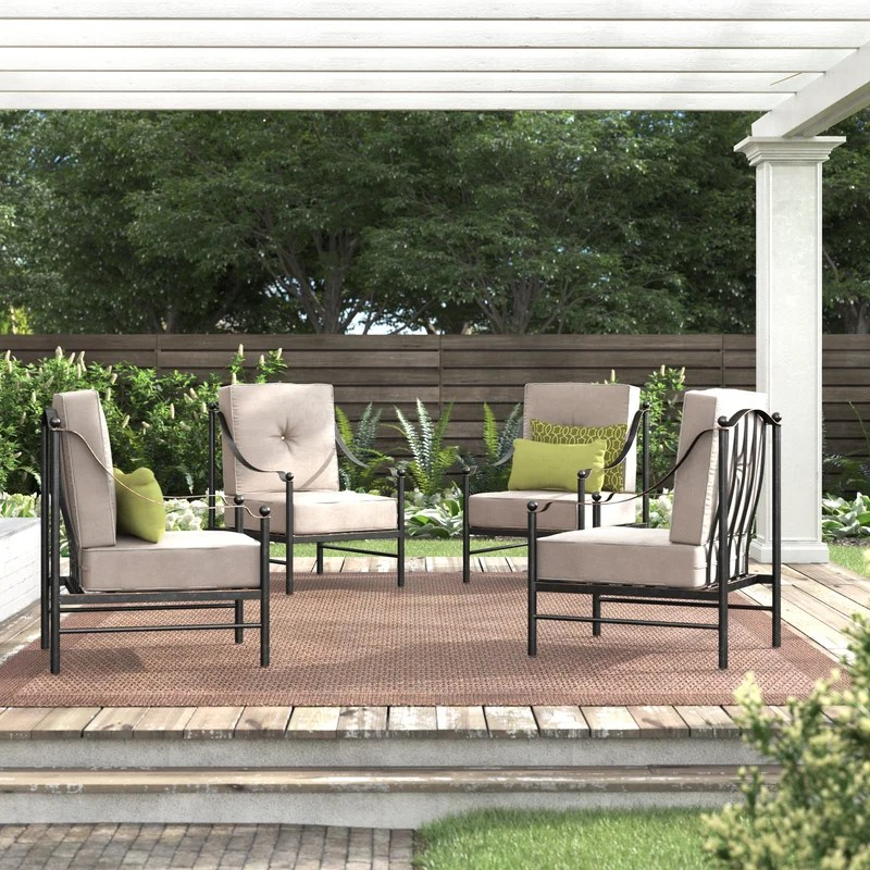 ritchie lounge patio chair with cushions