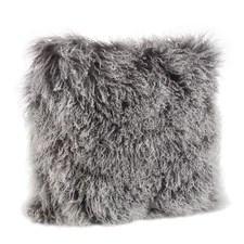 Asya Mongolian Fur Throw Pillow