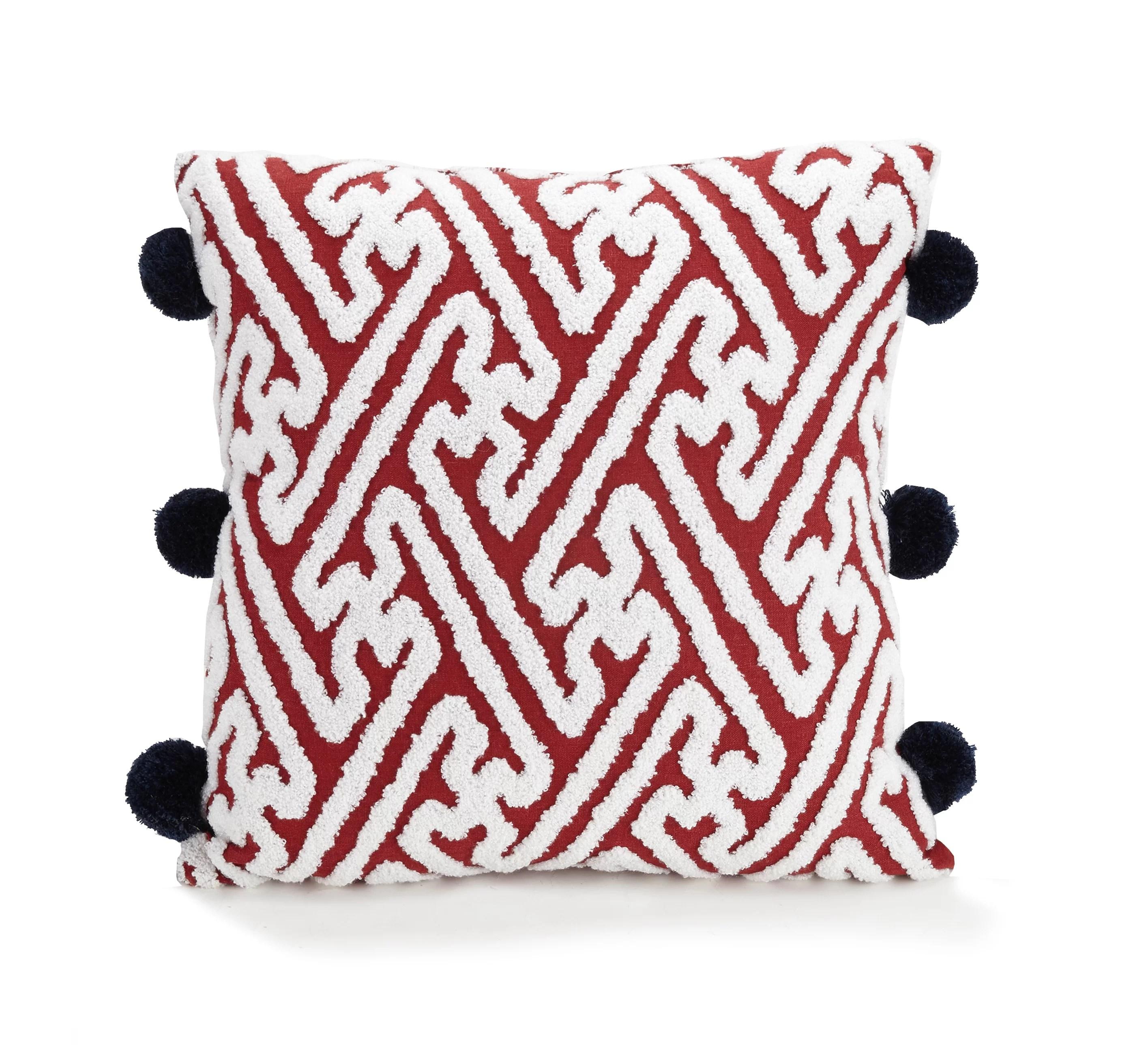 verbena pom pom throw pillow