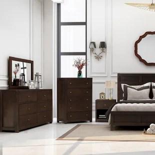 akeeyla solid wood platform 3 piece bedroom set