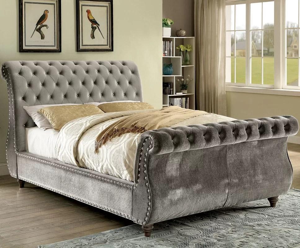 A&J Homes Studio Noella Upholstered Sleigh Bed & Reviews