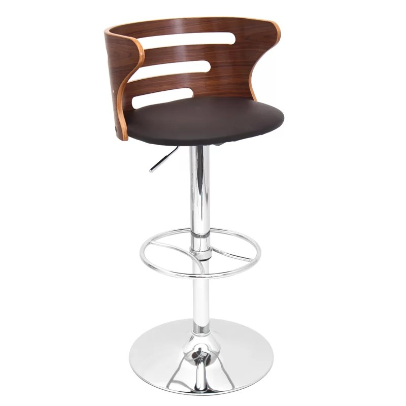 Dylan Adjustable Height Swivel Bar Stool