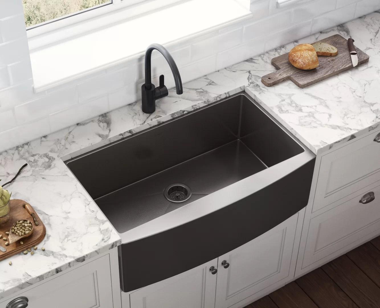 Ruvati Terraza 36 L X 22 W Farmhouse Kitchen Sink Reviews Wayfair