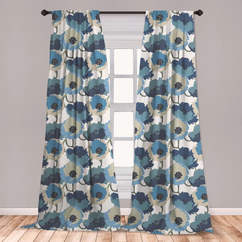 floral room darkening rod pocket curtain panels