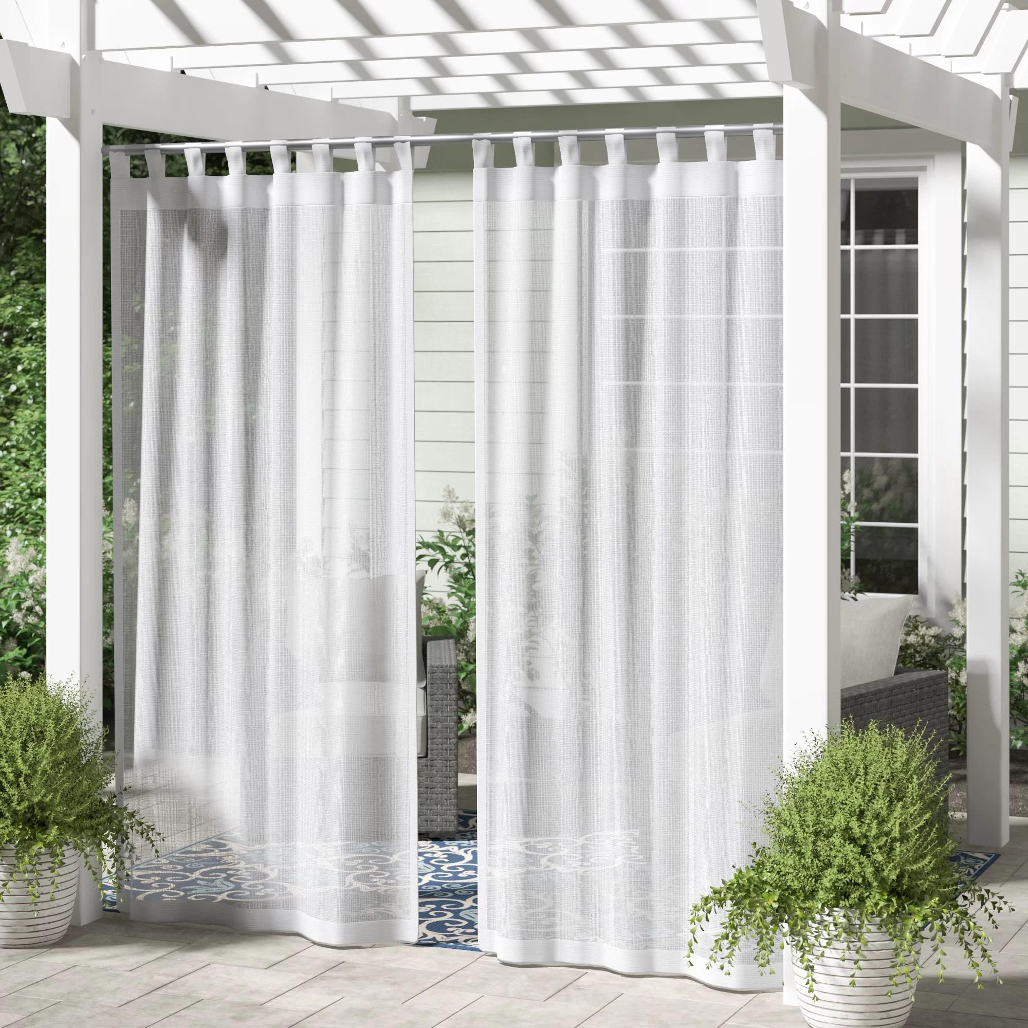 alvina solid color semi sheer tab top curtain panels