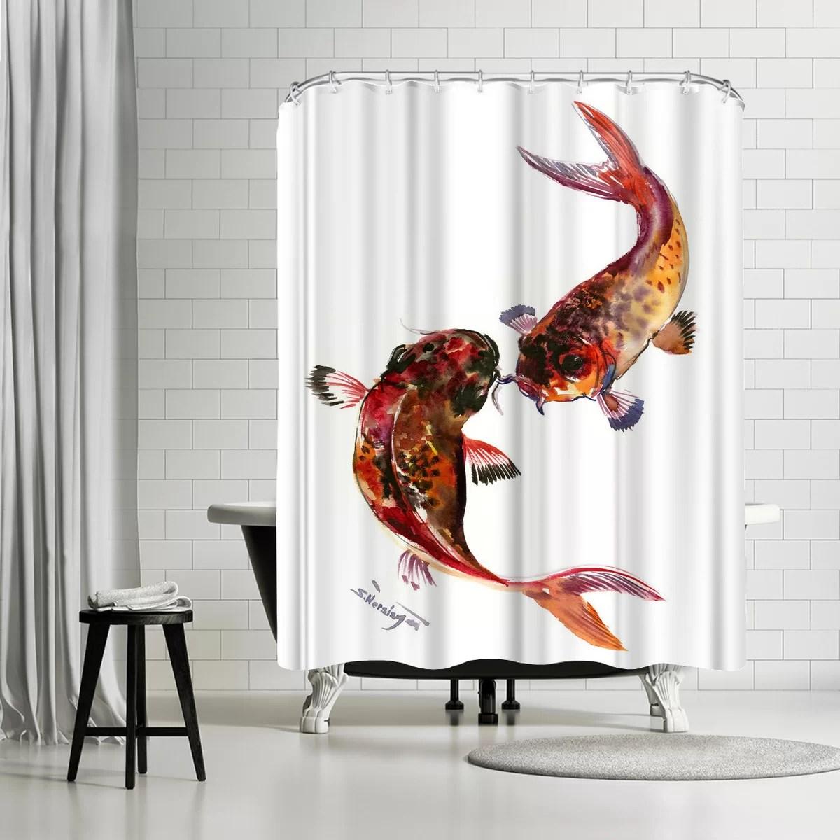 suren nersisyan feng shui koi fish single shower curtain